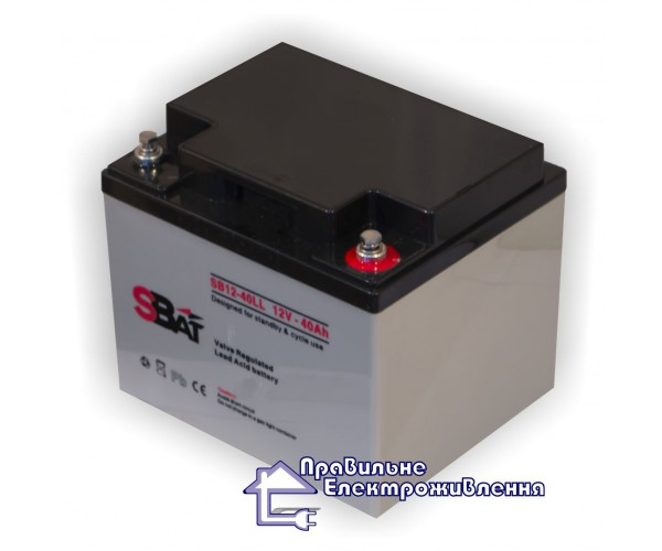 Акумуляторна батарея SB 12-40 LL (40 А год, 12В)