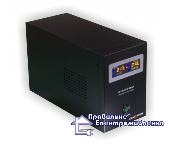 ДБЖ для твердопаливного котла LogicPower LPY-B-PSW-800VA+