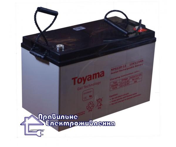 Гелева акумуляторна батарея Toyama NPG120-12