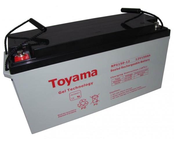 Гелева акумуляторна батарея Toyama NPG150-12 (150АГод)
