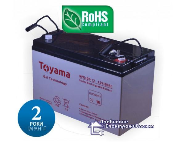 Гелева акумуляторна батарея Toyama NPG100-12