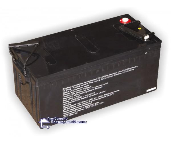 Акумуляторна батарея Luxeon LX12-260MG ( 12В, 260 А год)