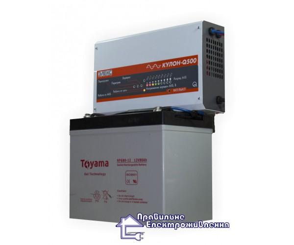 Джерело безперебійного живлення Єлекс Кулон 500 Q + Toyama NPG 12-80 AН