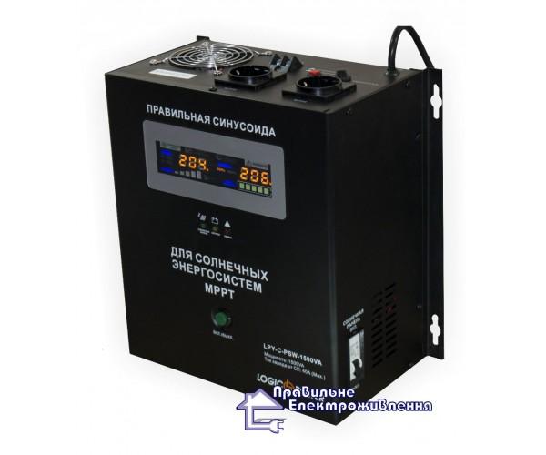 Інвертор напруги + MPPT контролер LPY-C-PSW-1500VA