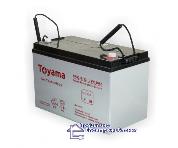 Гелева акумуляторна батарея NPG110-12 (12V, 110Ah)