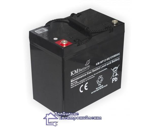 Акумуляторна AGM батарея KM 12-60 Ah