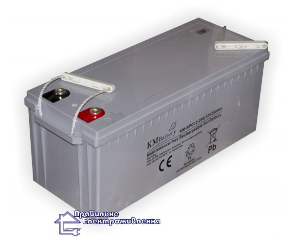 Гелева батарея KM battery NPG 12-200 (200А*Год)