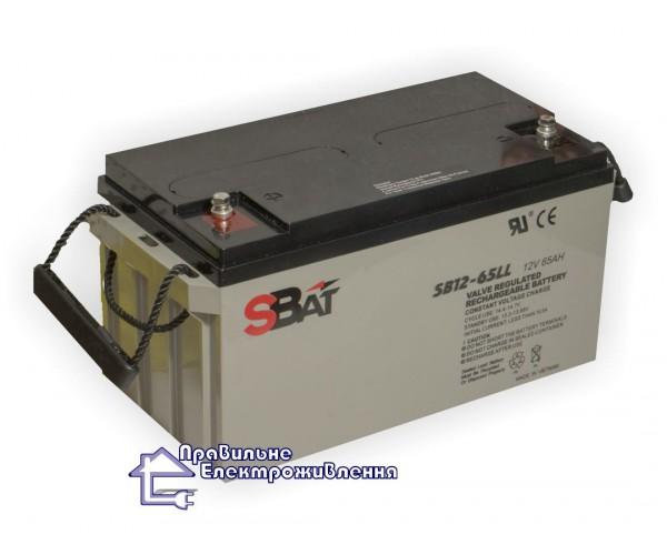 Гелева акумуляторна батарея SB 12-65LL (65 А год)
