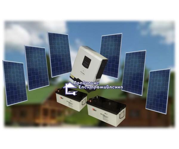 """Сонячний комплект електростанції для """"Котеджу"""" 1,5 кВт*год"""