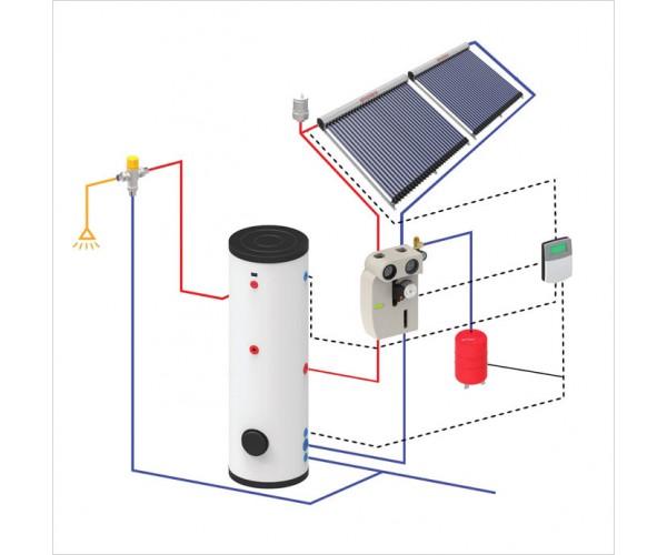 Комплект для підігріву води на 200 літрів + доповнення до опалення
