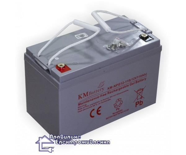 Гелева акумуляторна батарея KM Battery KM NPG 12-110 AH (110 А год)