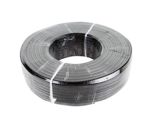 Коаксіальний кабель з живленням CCTV GV-01-R-RG-59 0.81CU60 + 2CCA0,5 white / black, бухта 100м